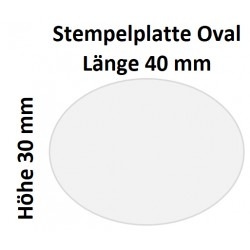 Holz Oval 30 x 40 (Millimeter)